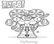 Printable Cyborg Teen Titans Go coloring pages