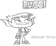 Printable Beast Boy Teen Titans coloring pages