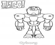 Printable Cybog Teen Titans Go coloring pages