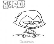 Printable Raven Teen Titans Go coloring pages
