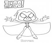 Printable Raven Teen Titans Go Cartoon coloring pages