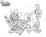 Sponegbob Band coloring pages