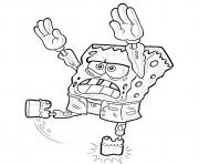 Spongebob Halloween Zombie coloring pages