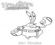 Mister Krabs coloring pages