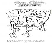 Spongebob is happy coloring pages