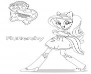 Printable Equestria Girls Fluttershy coloring pages