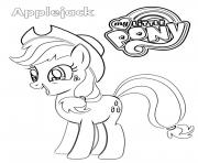 Printable Applejack MLP coloring pages