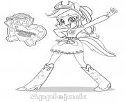 Printable Equestria Girls Applejack coloring pages