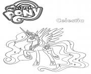 Printable Celestia My Little Pony coloring pages