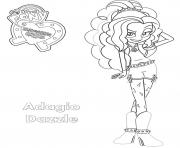 Printable Equestria Girls Adagio Dazzle coloring pages