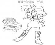 Printable Equestria Girls Pinkie Pie coloring pages