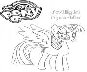 Printable Twilight Sparkle My Little Pony coloring pages