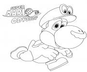 Printable Super Mario Odyssey Yoshi Nintendo coloring pages