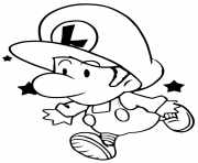 baby luigi cute coloring pages
