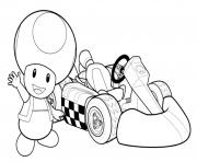 Printable toadette mario kart coloring pages