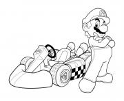 Printable mario kart go coloring pages