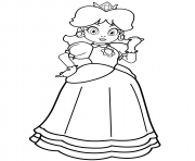 Printable princess daisy coloring pages
