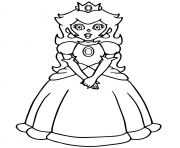 Printable super mario princess peach coloring pages