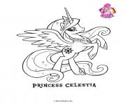 Printable Princess Celestra Crystal Empire My little pony coloring pages