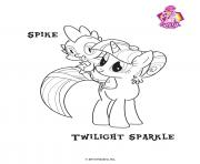 Spike Twilight Sparkle Empire Crystal coloring pages