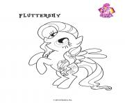 Printable Fluttershy Crystal Empire My little pony coloring pages