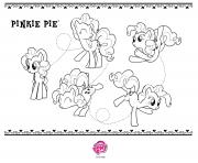 Printable pinkie pie my little pony coloring pages
