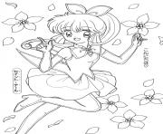 Printable Saint Tail Glitter Force coloring pages