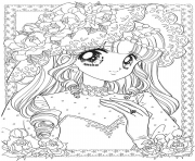Printable glitter force cute girl coloring pages