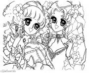 Printable glitter force anime girls coloring pages