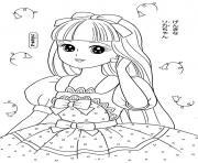 Printable glitter force cute princesse coloring pages