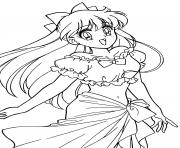 Printable glitter force cute venus coloring pages