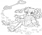 Printable glitter force key fairy coloring pages