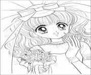 Printable glitter force Happy Paradise wedding girl coloring pages