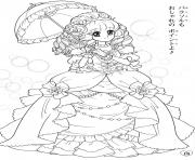 glitter force umbrela girls coloring pages