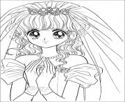 Printable glitter force Happy Paradise wedding coloring pages