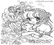Printable glitter force white background coloring pages