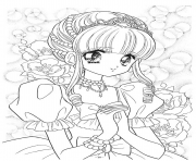 Printable glitter force wedding girl coloring pages