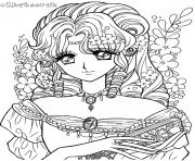 Printable glitter force retro coloring pages