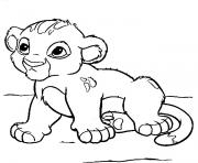 the lion king cartoon coloring pages