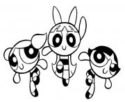 Printable powerpuff girls cartoon coloring pages