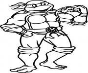 Printable ninja turtle pizza cartoon coloring pages