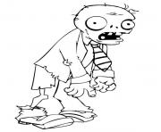 Printable zombie cartoon coloring pages