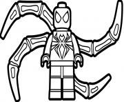 lego spiderman cartoon coloring pages