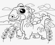dinosaur cute cartoon coloring pages