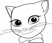 Printable angela cat face talking tom coloring pages