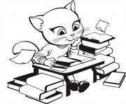 Printable angela study book talking tom coloring pages