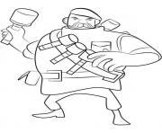 Printable Boom Beach Grenadier coloring pages