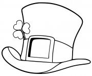 Printable st patrick day top hat coloring pages