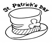 Printable st paticks day hat coloring pages