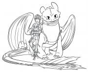 hiccup toothless dragon 3 coloring pages